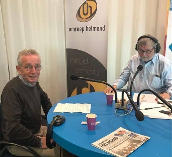 Bestuurslid Joop van Stiphout bij lokale omroep Helmond