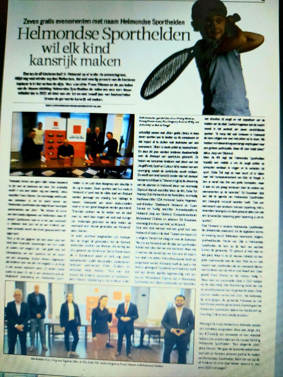 Weekblad De Loop partner Helmondse Sporthelden