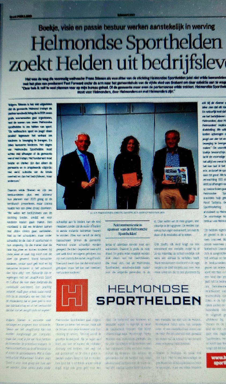 Helmondse Sporthelden weer in Weekblad De Loop