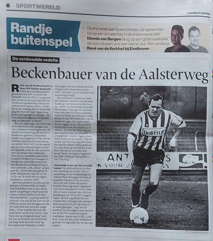 Rene van der Kerkhof in AD-rubriek Verdwaalde held