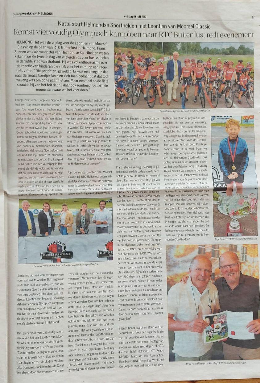 Weekblad De Loop steunt Sporthelden paginagroot
