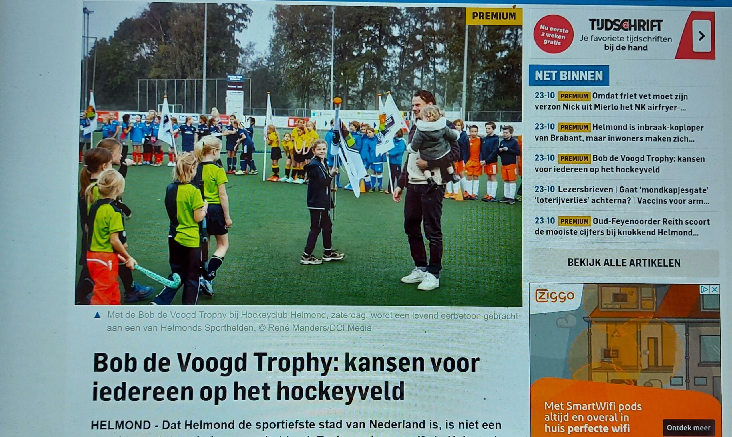 Ruim aandacht Bob de Voogd Trophy in Eindhovens Dagblad