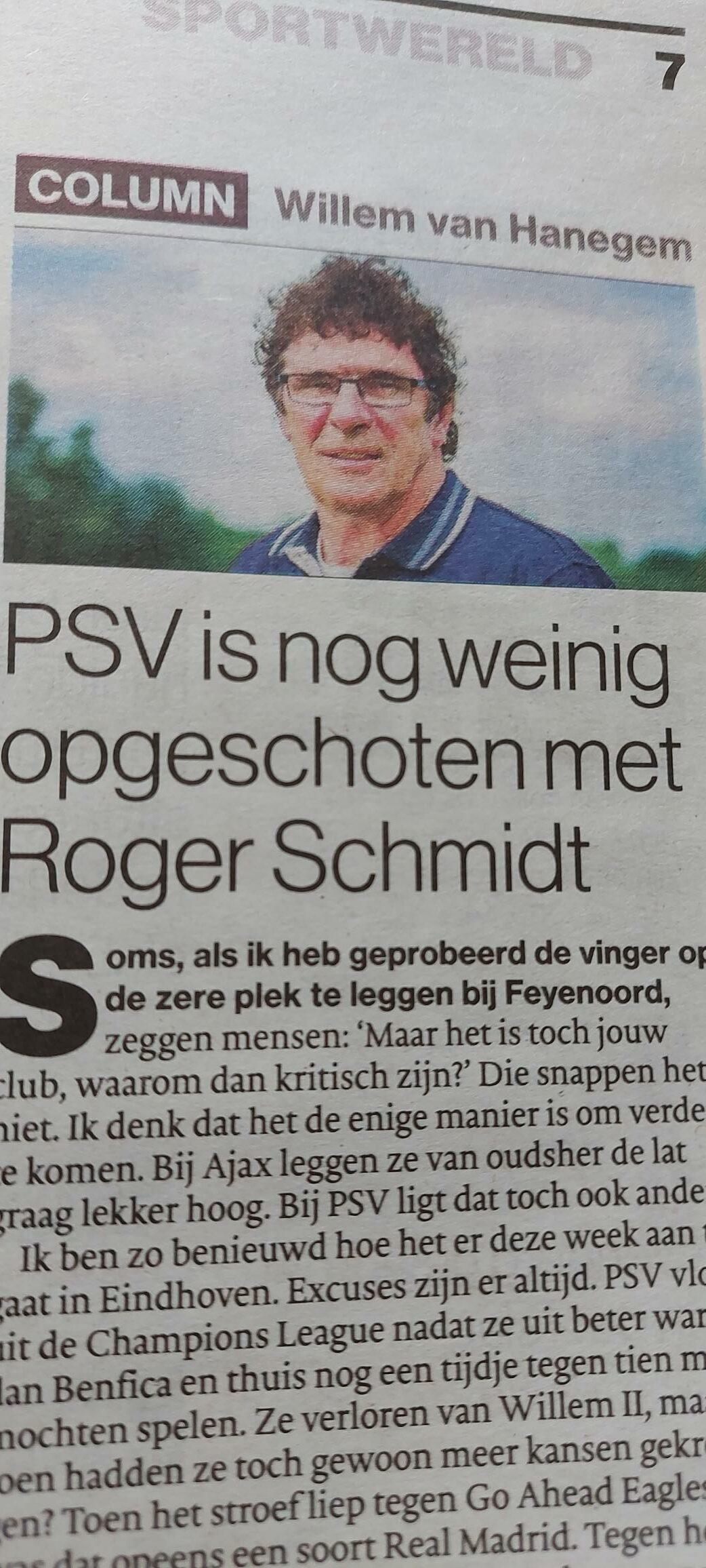 Van Hanegem ziet rol voor beide Sporthelden Van de Kerkhof
